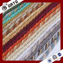 Zhejiang hangzhou taojin textil hermosa cuerda decorativa para decoración de sofá o accesorios de decoración para el hogar, cordón decorativo, 6mm