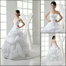 JJ3012 neueste Ballkleid-Falte-Silk Satin-Sleeveless Brauthochzeits-Kleid