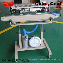 Sellador de bandas de sellado continuo neumático de alta calidad Dbf-1000