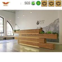 Modern Unique Shape Design Office Wooden Salon Front Desk (HY-Q39)