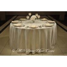 plaine de satin housse de table de style / overlay pour hôtel de banquet de mariage