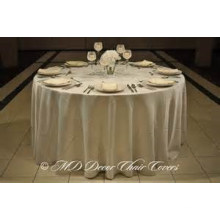 plain styled satin fabric table cover/ overlay for wedding banquet hotel