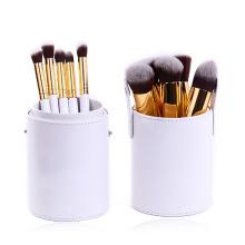 10 Piece Kabuki Makeup Brush with Round Stand Case (TOOL-192)
