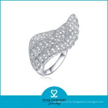 Ángulo de diseño de ala de plata de ley anillo mayorista (SH-R0052)
