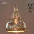 Éclairage pendentif creux d'or antique de gourde LED avec le restaurant