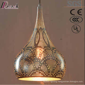 Ancient Gourd Hollow Gold LED Pendant Lighting with Restaurant