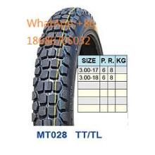 Moto pneu pneumático/moto 3.00-17, 3.00-18 venda quente padrão