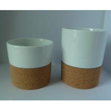 Porcelain Cup with Cork Bottom