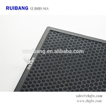 filtro de aire de carbón activado de eliminación de olor de alta eficiencia