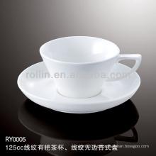 Saudável xícara de porcelana durável especial durável e pires