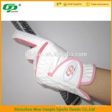 100% sheep skin pink golf gloves for women