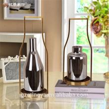 decoração de casamento ornamento de jardim elegante design vaso de vidro peças para nova casa / hotel / restaurante