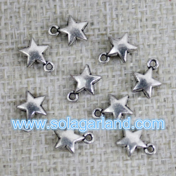 Wholesale 6.5MM Tiny Bright Silver Metal Star Charms Pendants