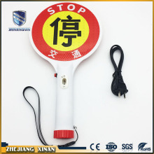rechargeable traffic control stop security sign