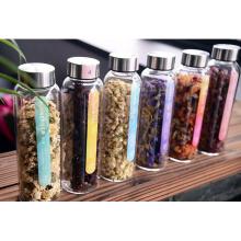 OEM / Customized alto Vidro Borosilicato Transperent Air Tight Glass Jar