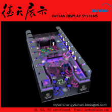 20x10x4.1m Ornate Large Double Deck Shanghai Wooden Led Dj Booth