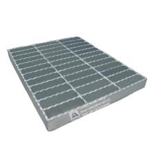 High quality metal bar safety steel grating step with hot dipped galvanized 7/16''/25x3 steel grating made in China
