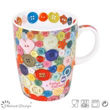 Tasse en porcelaine de 12 oz avec tasse de café pleine qualité 4c