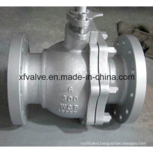 Cast Carbon Steel WCB Floating Type Flange End Ball Valve