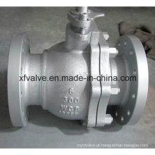 Aço Carbono Aço WCB Flutuante Válvula de Esfera Flange