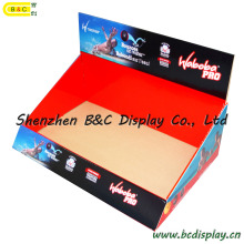 Pantalla de cartón, Mostrador de mostrador, Soporte de pantalla de piso aprobado por SGS, Pantalla pop, Pantalla acanalada, Pantalla de papel, Pantalla PDQ de venta minorista (B & C-D045)