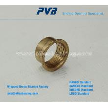 Base en PRMF estándar Bujes bridados de bronce envuelto, rodamiento de bronce sinterizado