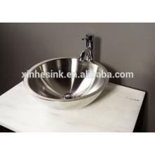 Lavabo de baño de acero inoxidable 304 con doble pared