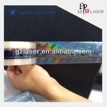 Cinta de seguridad adhesiva holográfica popular con película plástica bopp