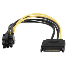 Customized SATA 15pin to 6pin PCI-E Cable