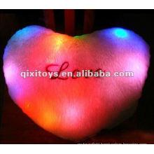 stuffed Luminous LED pillow,plush pillow