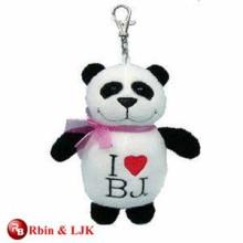 High quality custom plush panda keychain