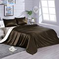 Silk Bedding Set 4pcs Duvet Cover Sheet Pillowcases