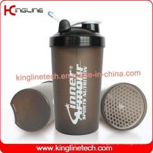 700ml plastic protein shaker bottle with lid (KL-7034G)