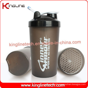 700ml plastic protein shaker bottle with lid (KL-7034G)
