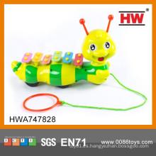 Nuevo juguete de la secuencia del tirón del xilófono del instrumento musical del diseño para el bebé