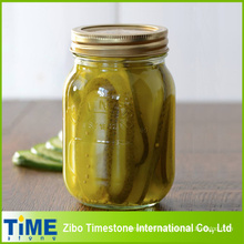 High Quality Glass Mason Jar for Canned Food (honey, jam, pickles)