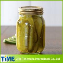 Bocal de maçon en verre de haute qualité pour les aliments en conserve (miel, confiture, cornichons)