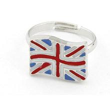 Moda Reino Unido Bandeira Anel Atacado Anéis FR03