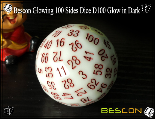 Bescon Glowing 100 Sides Dice D100 Glow in Dark-3
