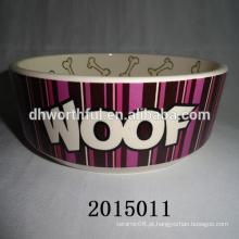Popular casa cerâmica pet tigela