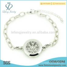 Pulsera de perfume de encanto de plata, pulseras de encanto para las mujeres