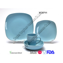 Ceramic Blue Dinner Set (16PCS)