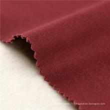 32x16 + 70D / 195x60 256gsm 139CM Tissu rouge pur pour tissu de spandex pour vêtement de dame fabriqué par la Chine