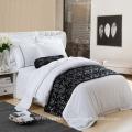 Tecido jacquard de microfibra para folha de cama com boa qualidade