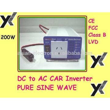 110VAC Ausgang mit USA Steckdose 200W Wechselrichter 50 / 60Hz Schalter wählbar