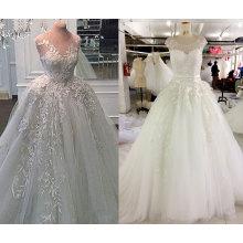 Vestido de boda más grueso vestido de bola con enagua interior