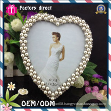 Heart Type Hand Made Pearl Decoration Photo Frame