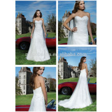 2014 Charming Princess Empire Wedding Dress Sweetheart Open Back Tulle Made Lace Applique Beaded Long Garden Bridal Gown NB0657