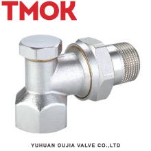 Placage en laiton nickelé DN15 avec robinet thermostatique en laiton