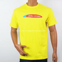 Impreso personalizado camiseta cuello redondo hombres